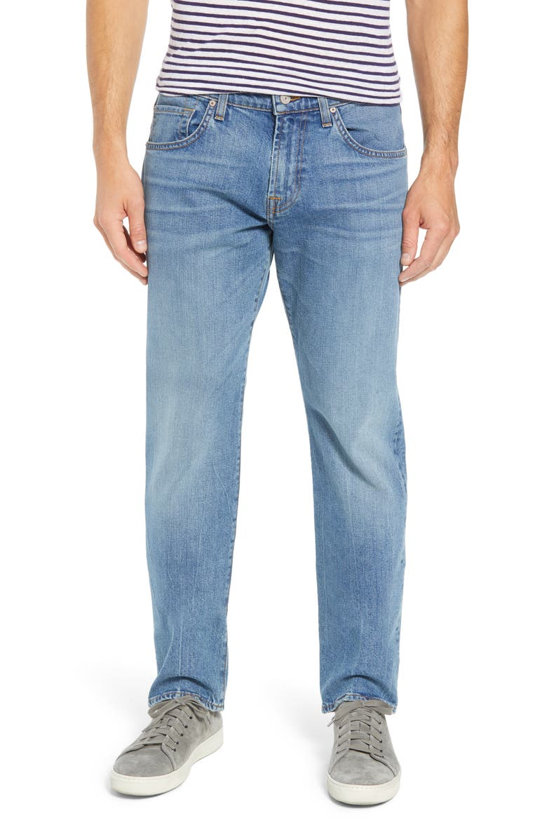 7 FOR ALL MANKIND<SUP>®</SUP> The Straight Slim Straight Leg Jeans, Main, color, PROSE
