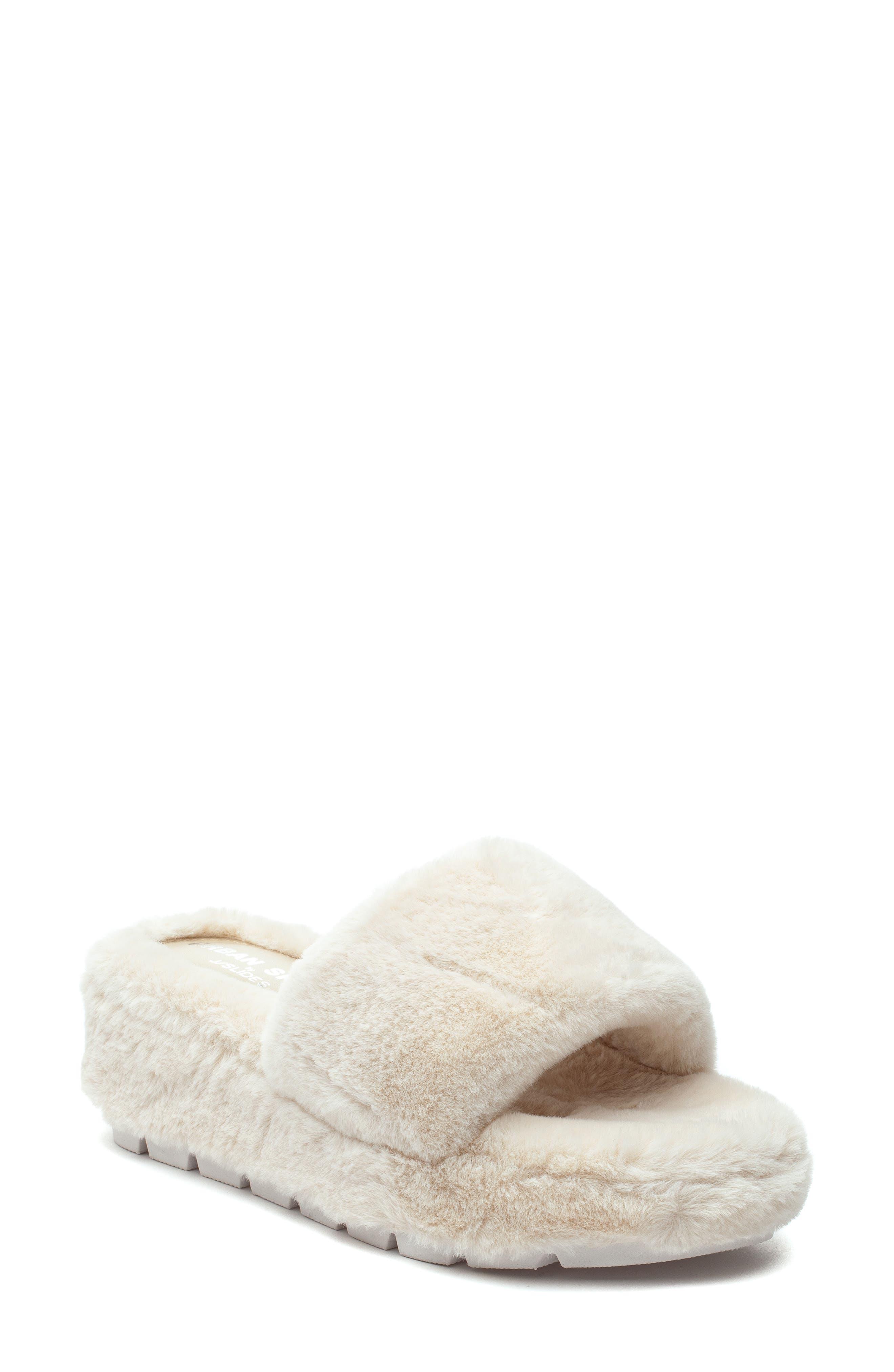 Women's J Slides Willow Faux Fur Slide Sandal