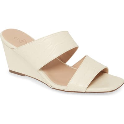 27 Edit Vennice Wedge Slide Sandal, Ivory