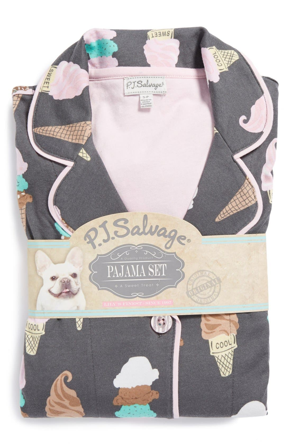 ,                             Print Jersey Pajamas,                             Alternate thumbnail 5, color,                             020
