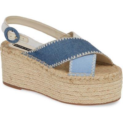 Alice + Olivia Fayen Platform Sandal, Blue
