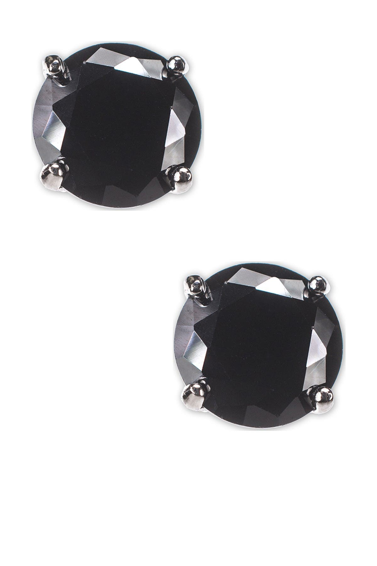 Image of CZ By Kenneth Jay Lane Round Cut CZ Faceted Post Earrings