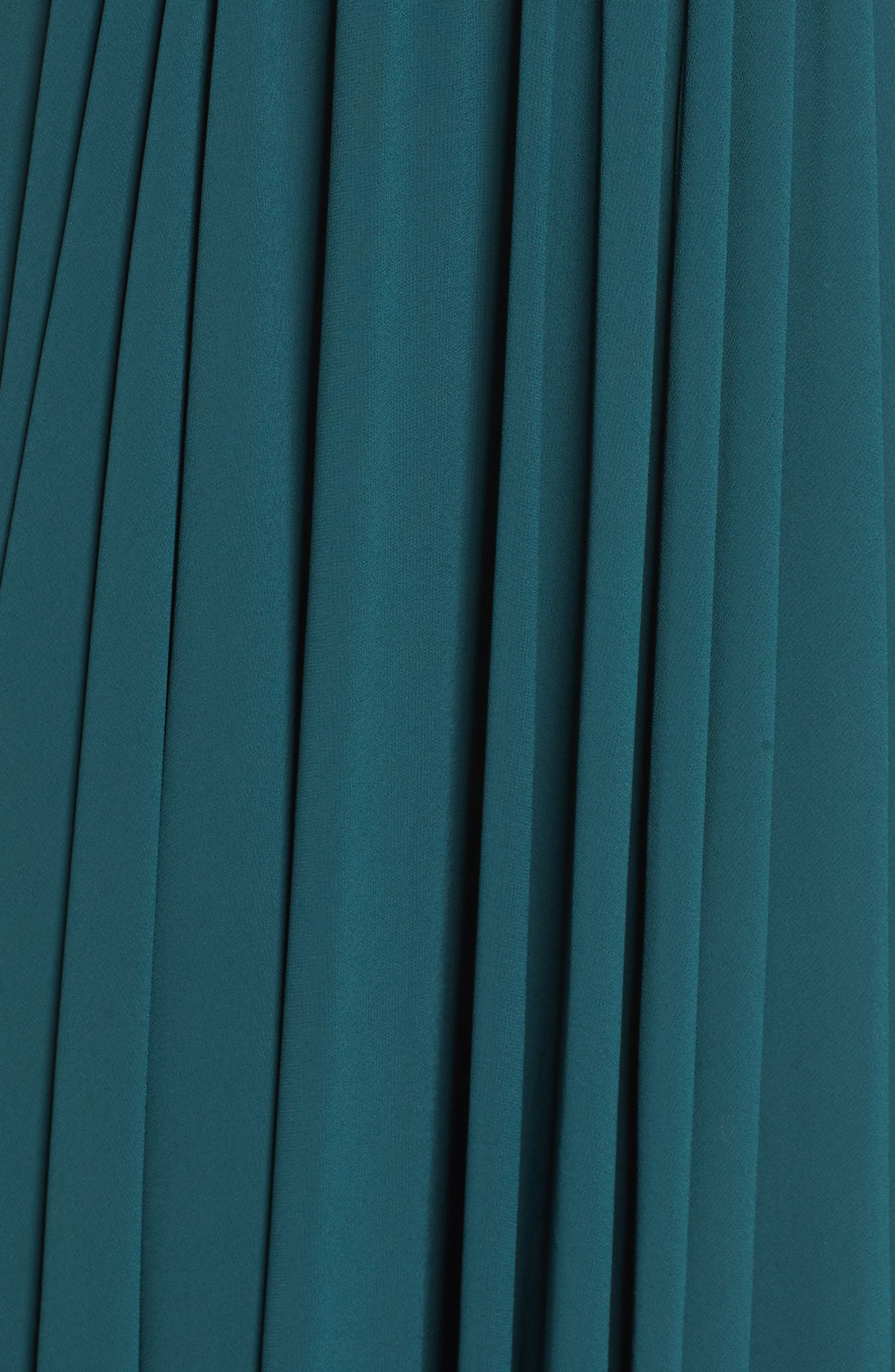 ,                             Vivid Imagination Chiffon Gown,                             Alternate thumbnail 6, color,                             FOREST GREEN