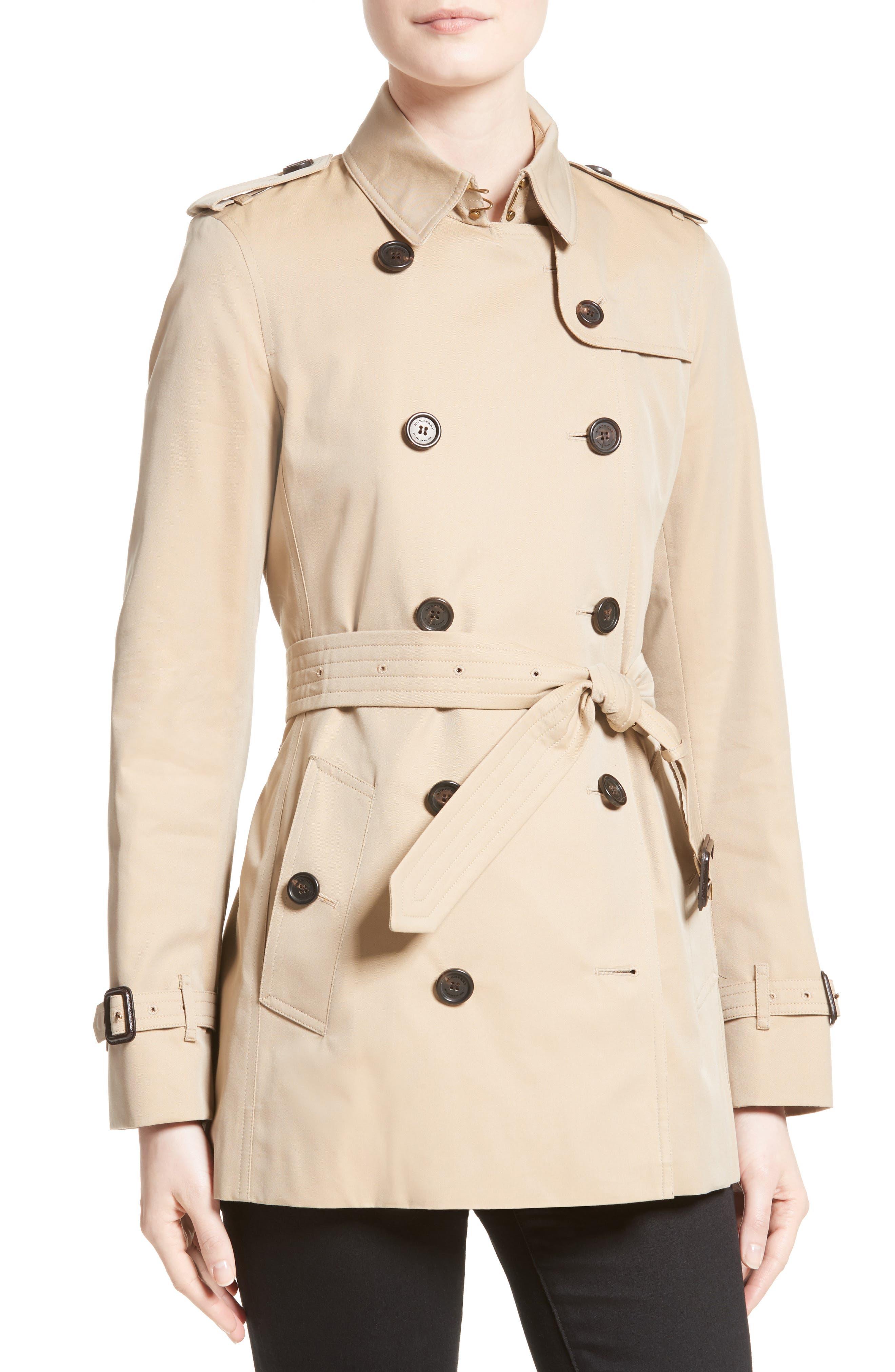 ,                             Kensington Short Trench Coat,                             Alternate thumbnail 3, color,                             260