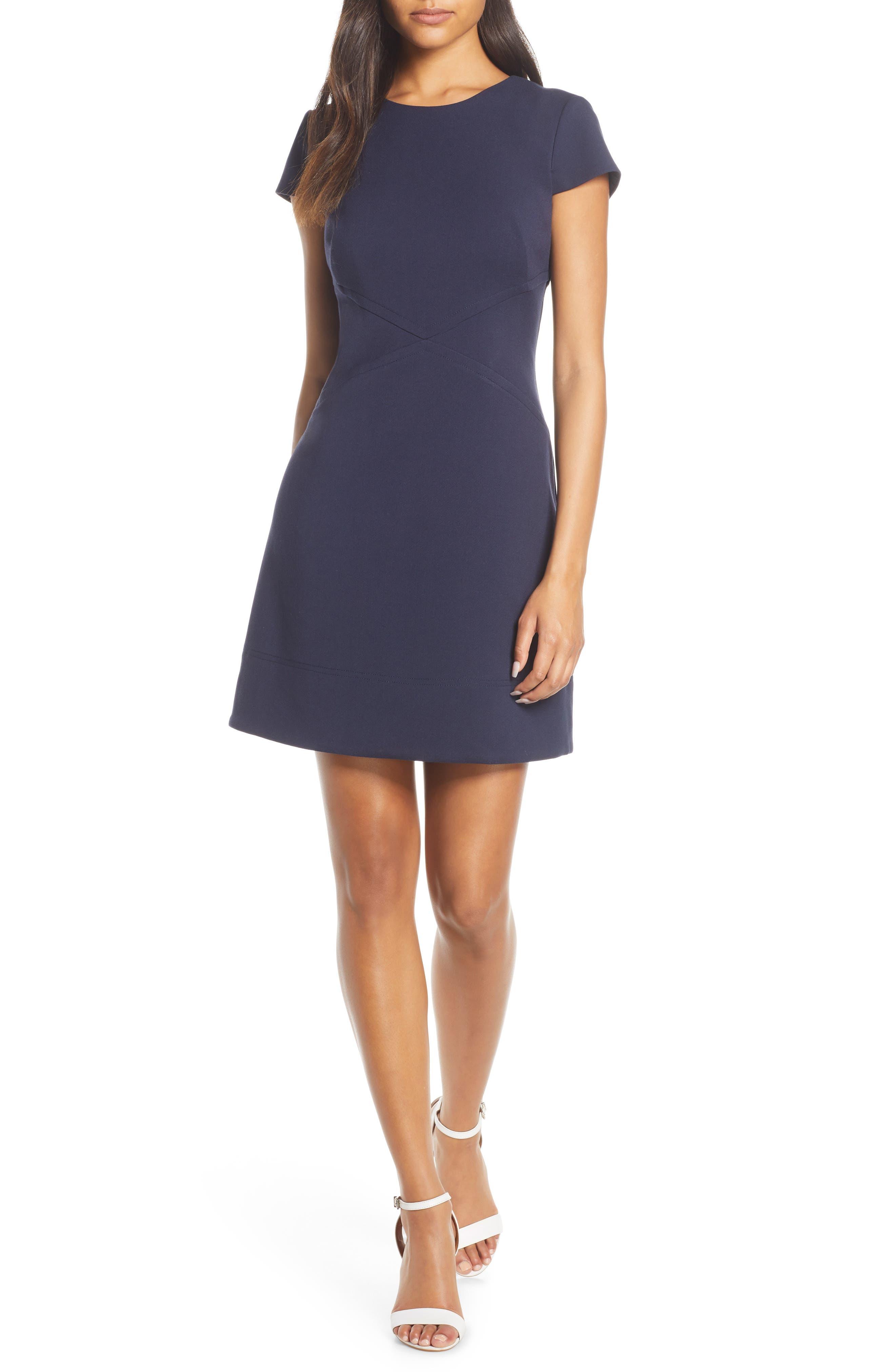 Petite Harper Rose Short Sleeve Dress, Blue