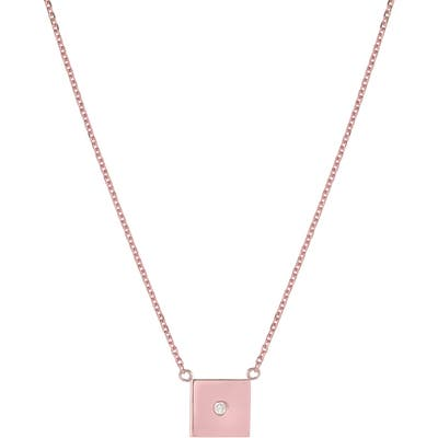 Mini Mini Jewels Forever Collection - Square Diamond Pendant Necklace