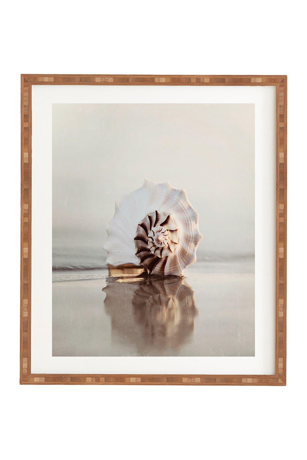 Image of Deny Designs Bree Madden Seashell Bamboo Framed Art