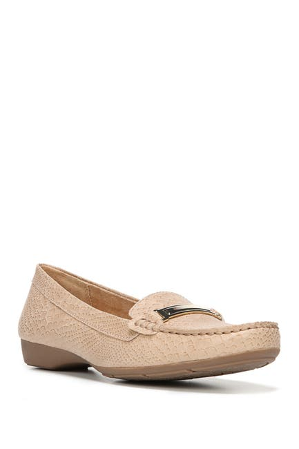 Image of Naturalizer Gadget Snake Embossed Leather Bit Loafer - Wide Width Available