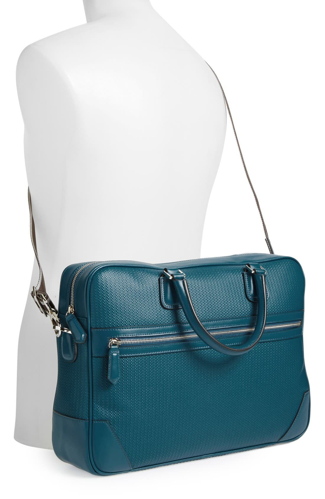,                             Leather Briefcase,                             Alternate thumbnail 4, color,                             400