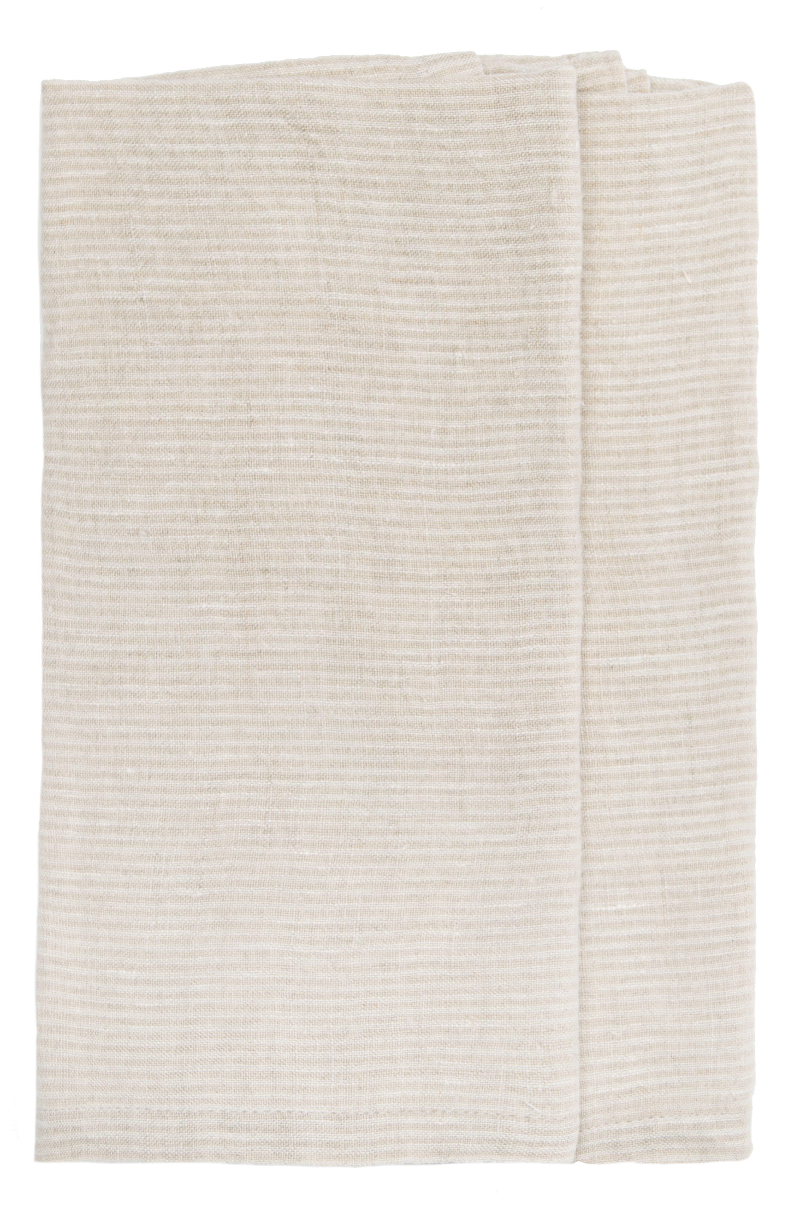 Caravan Set Of 2 Pico Stripe Tea Towels Size One Size  Beige