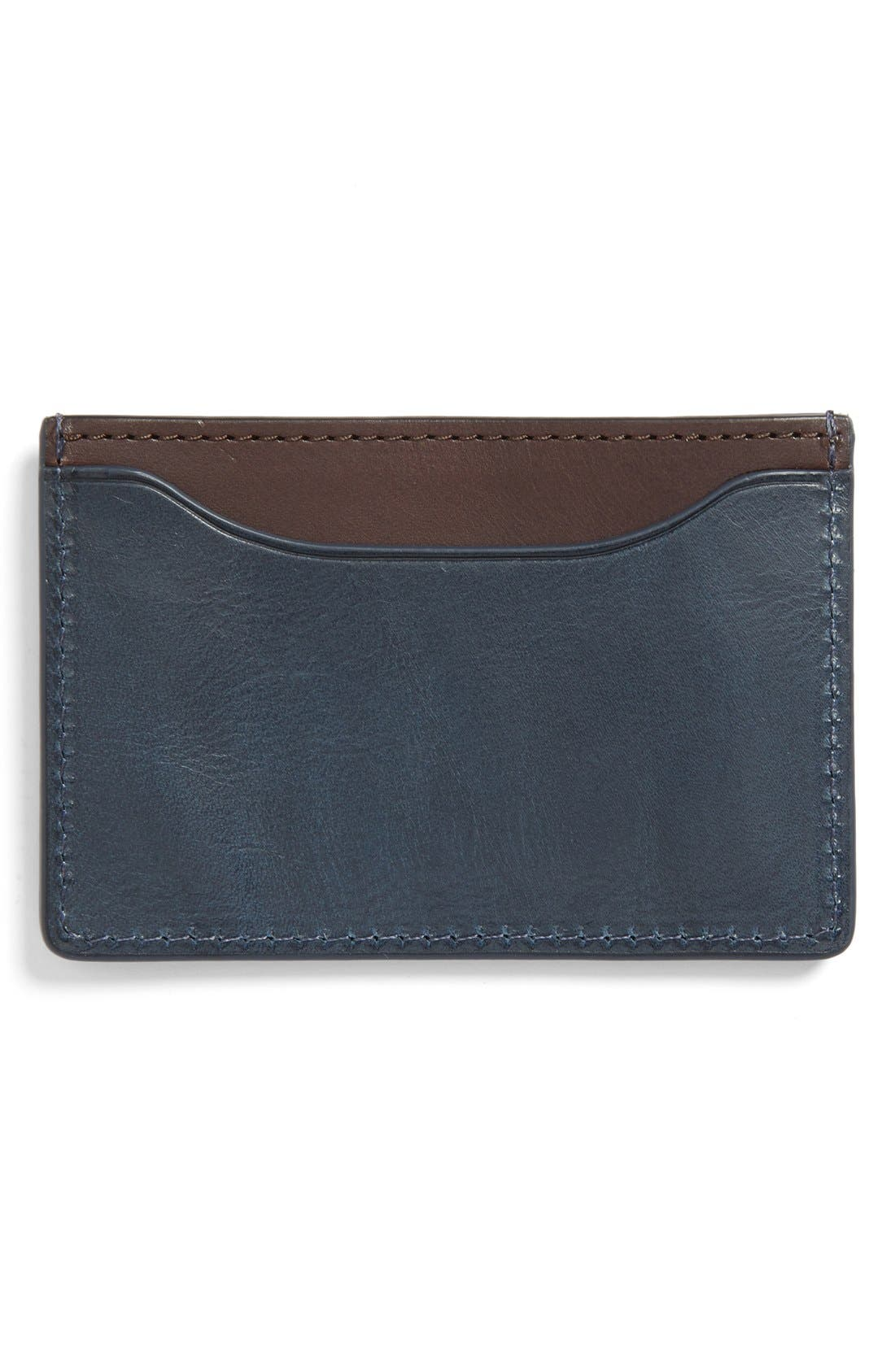 ,                             'Mitchell' Leather Card Holder,                             Alternate thumbnail 8, color,                             424