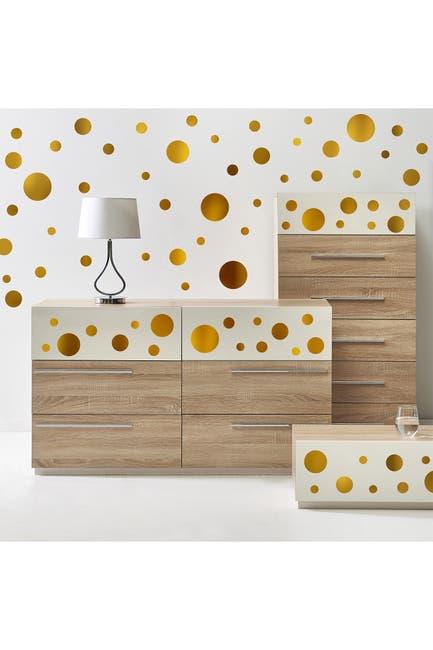 Image of WalPlus Gold Metallic Dots Wall Decal