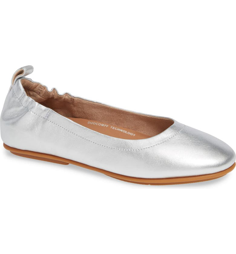 FITFLOP Allegro Ballet Flat, Main, color, SILVER