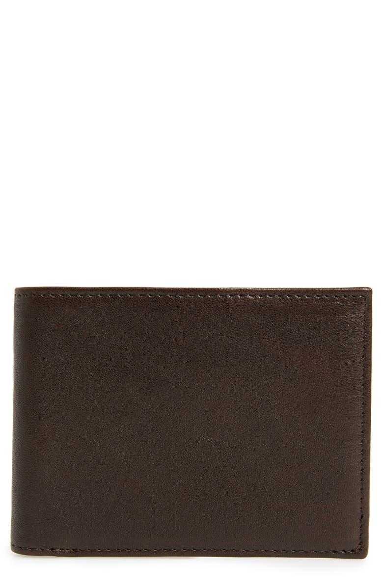 NORDSTROM MEN'S SHOP James Leather Wallet, Main, color, 001
