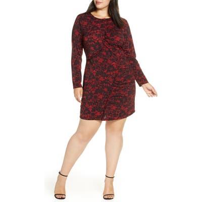 Plus Size Michael Michael Kors Lace Ruffle Dress, Red