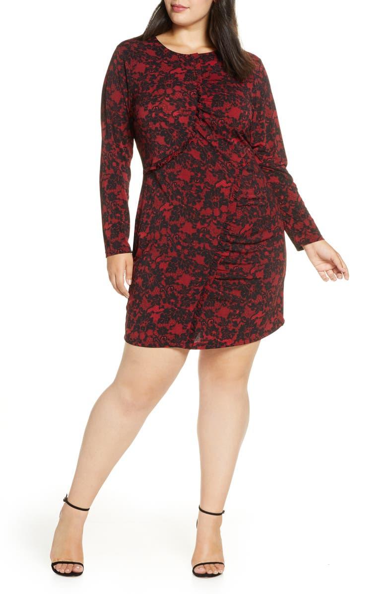 MICHAEL MICHAEL KORS Lace Ruffle Dress, Main, color, 600