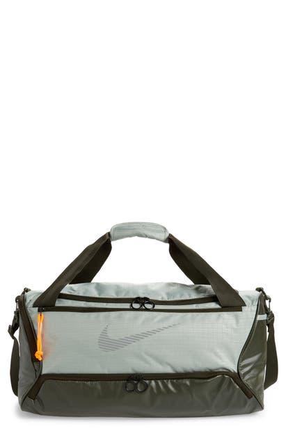 Nike Brasilia Duffle Bag In Jade/ Sequoia/ Reflect