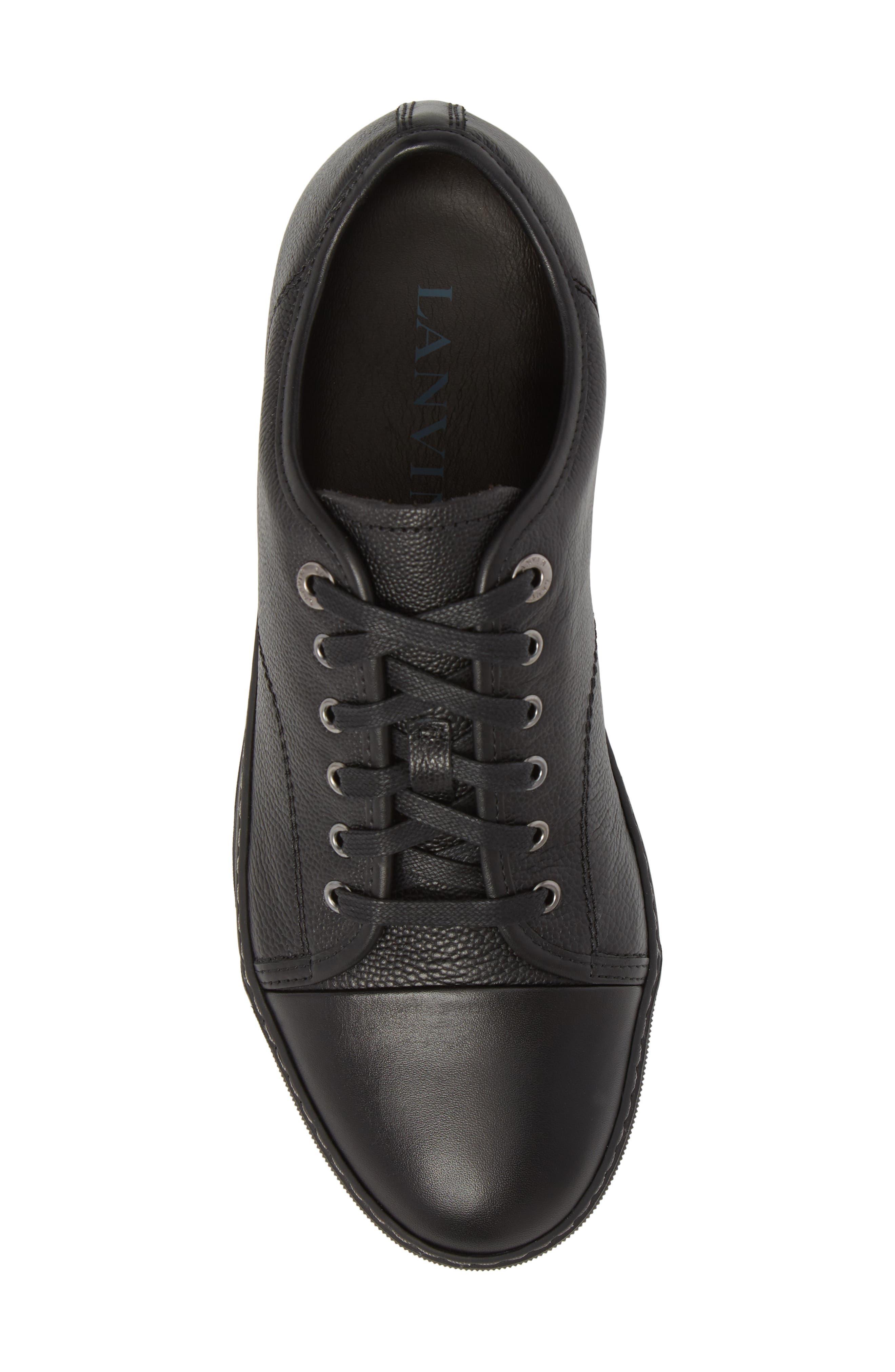 ,                             Shiny Cap Toe Sneaker,                             Alternate thumbnail 5, color,                             001