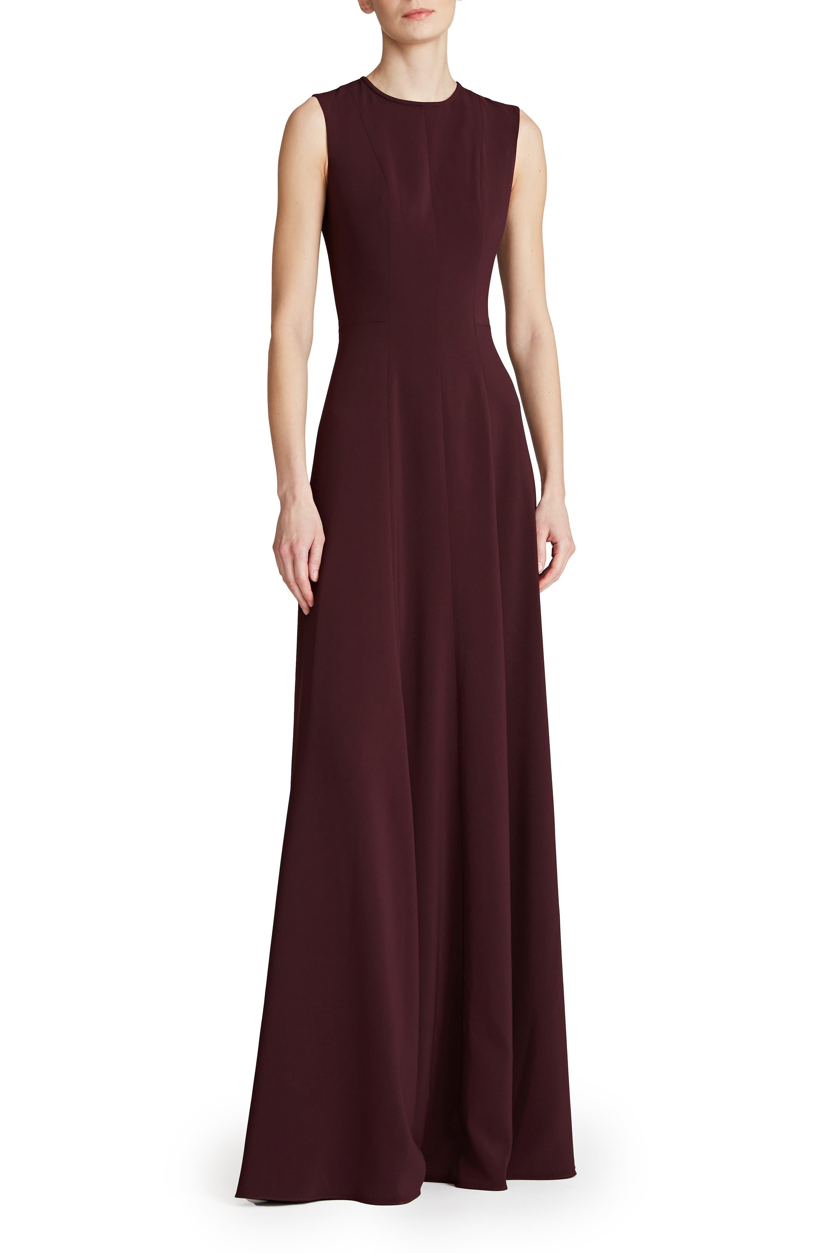 Iris Sleeveless Crepe Gown