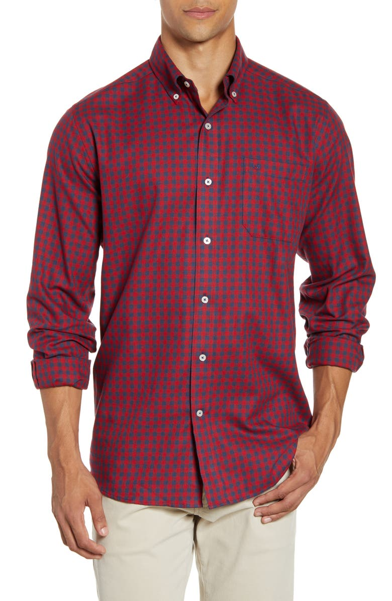 SOUTHERN TIDE Donner Classic Fit Gingham Flannel Button-Down Shirt, Main, color, 649