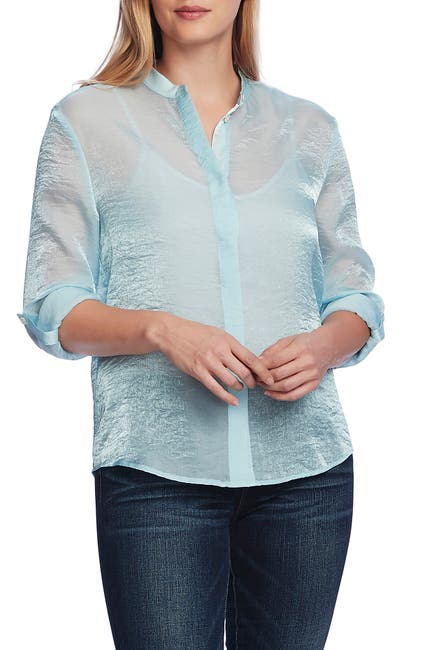 Image of Vince Camuto Organza Long Sleeve Blouse