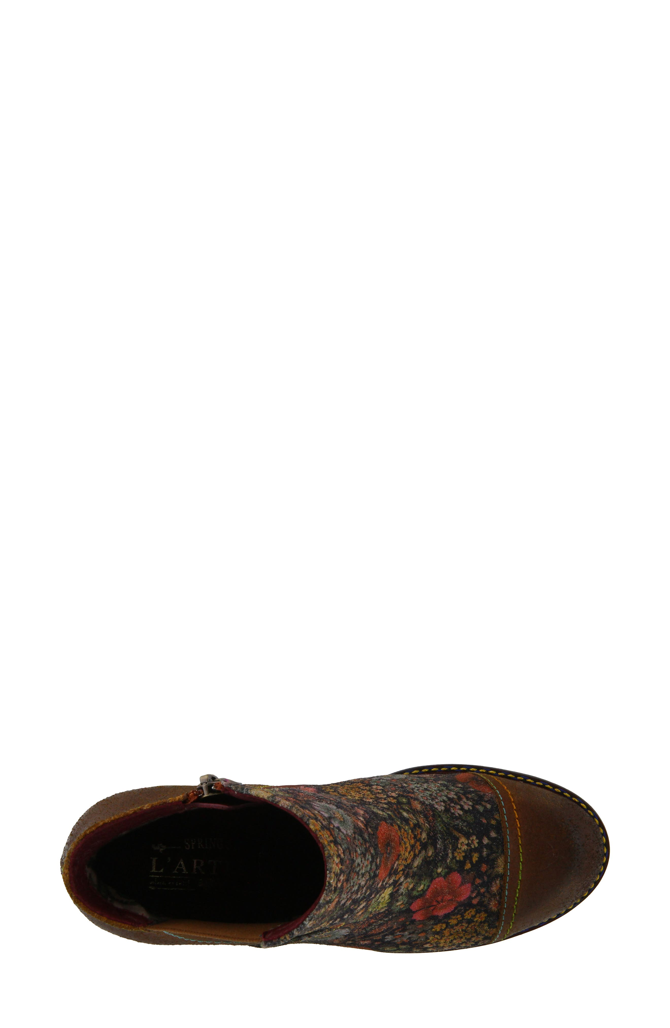 ,                             Melvina Bootie,                             Alternate thumbnail 4, color,                             BROWN MULTI LEATHER