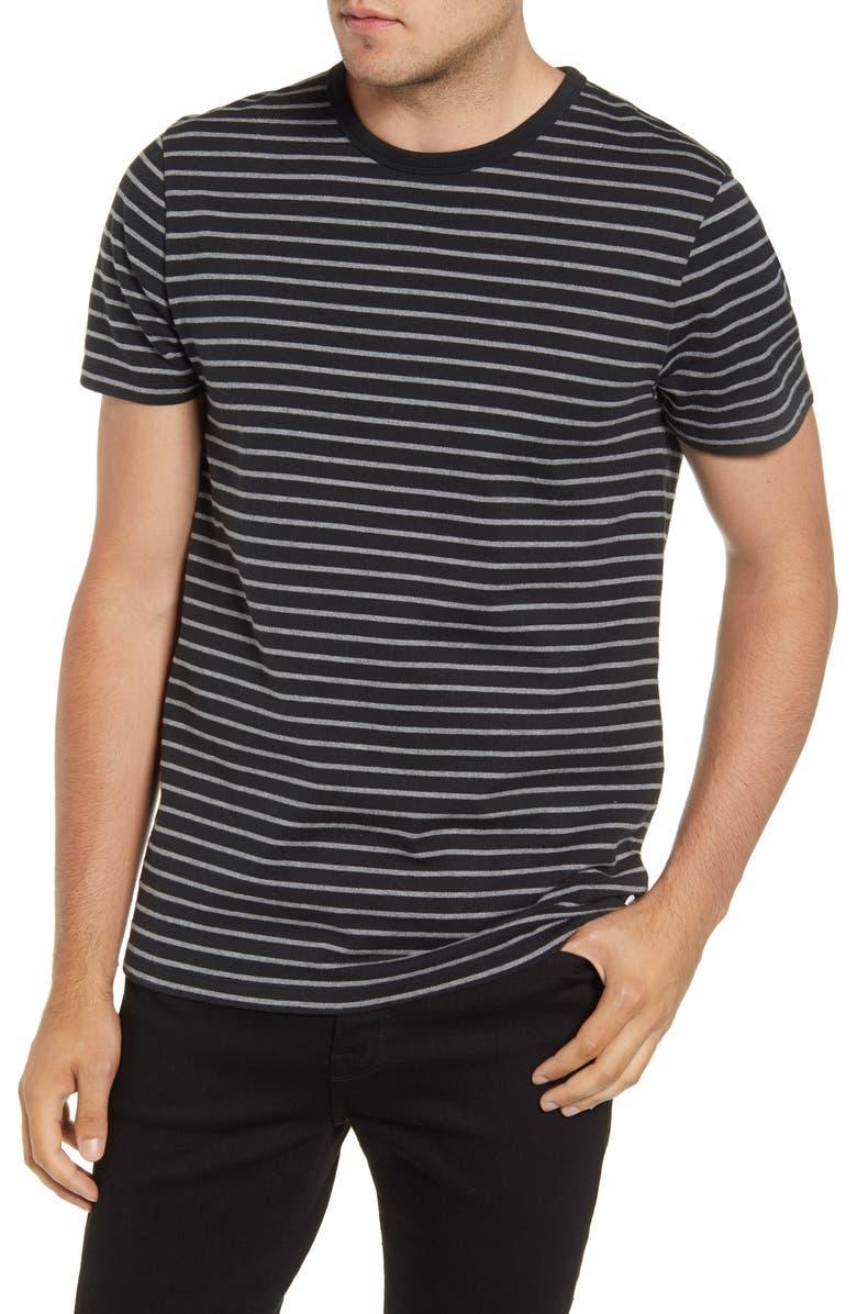 FRAME Slim Fit Stripe T-Shirt, Main, color, NOIR MULTI