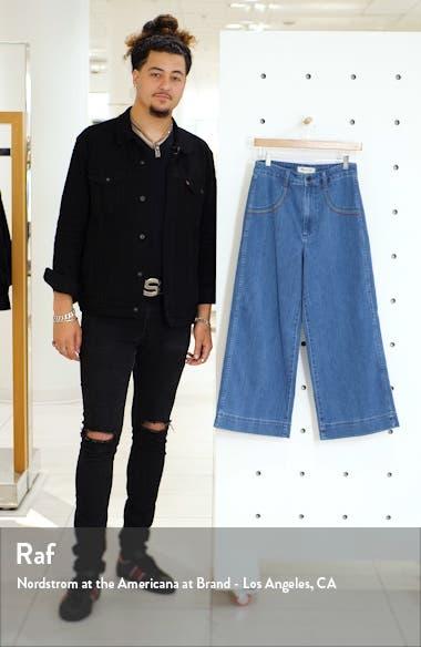 6609ccf79 ... Rainbow Stitched Emmett Wide Leg Crop Jeans, sales video thumbnail ...