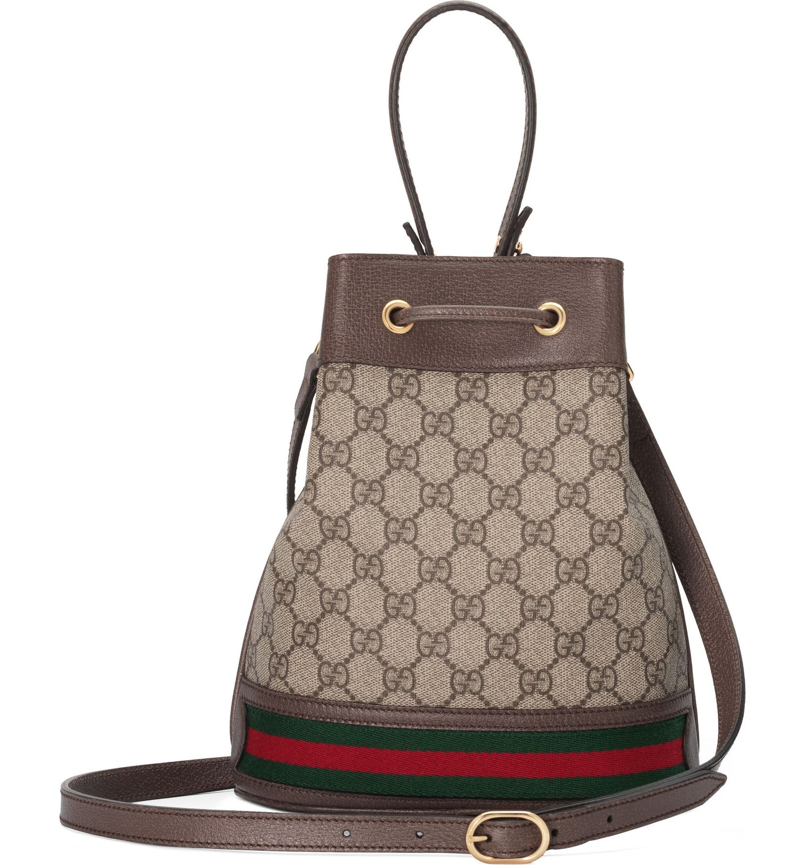 84b114cb36e4b0 Gucci Small Ophidia GG Supreme Canvas Bucket Bag | Nordstrom