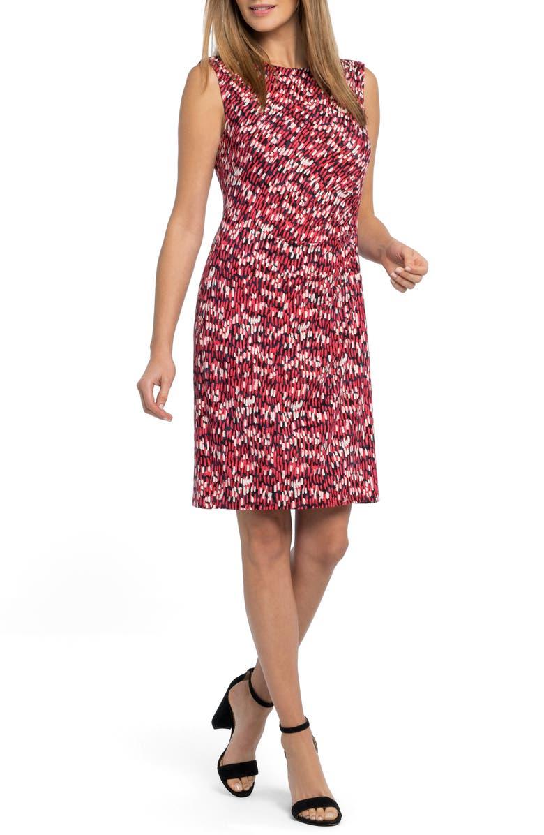 NIC+ZOE Bright Burst Twist Jersey Dress, Main, color, 670