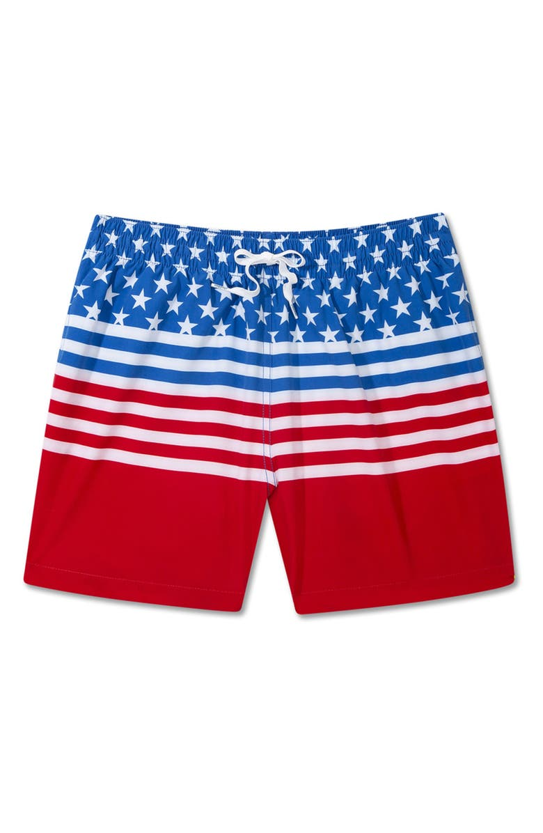 CHUBBIES The Backyard BBQs 5.5-Inch Swim Trunks, Main, color, MEDIUM BLUE