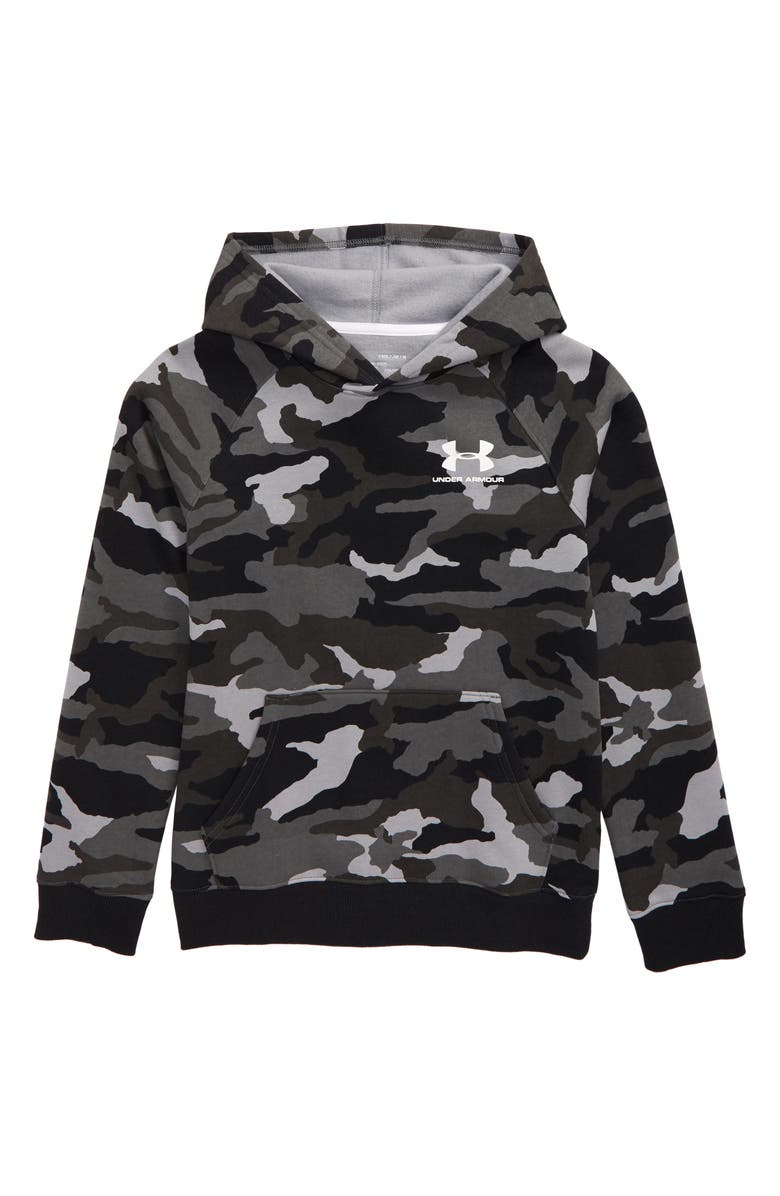 44ac4677 Under Armour Rival ColdGear® Print Hoodie (Big Boys) | Nordstrom