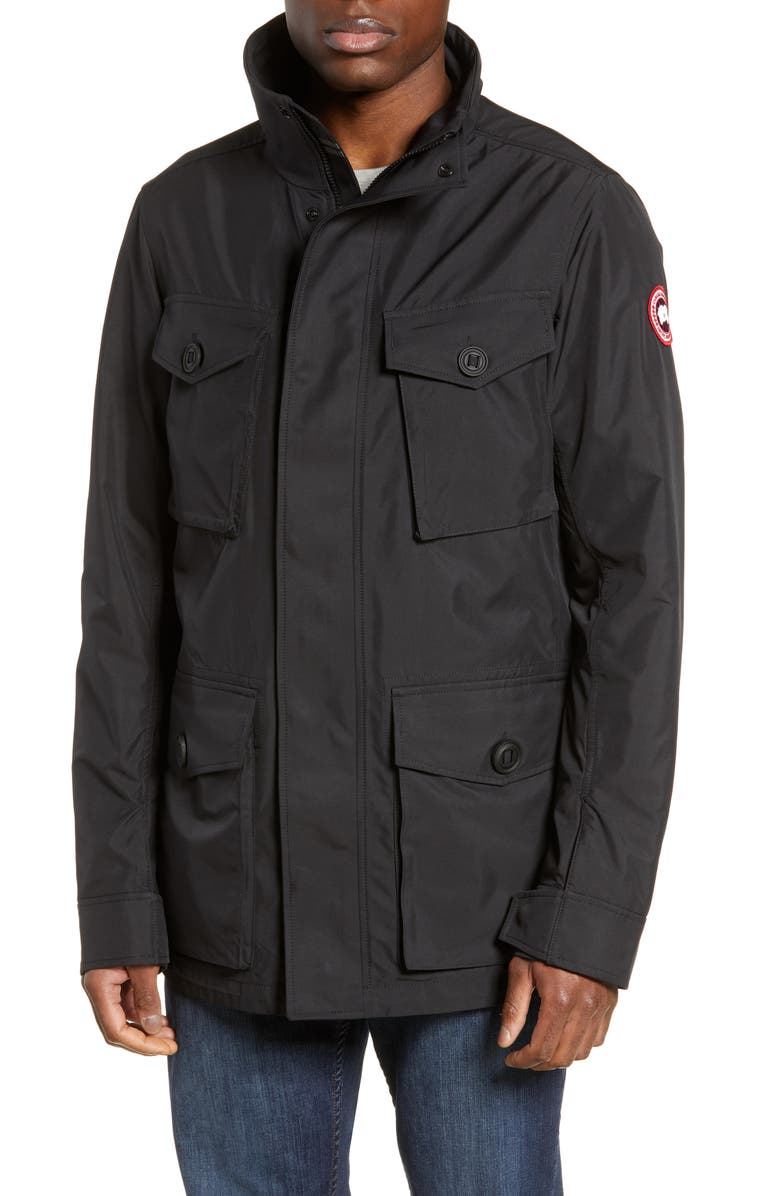 CANADA GOOSE Stanhope Windproof Jacket, Main, color, BLACK