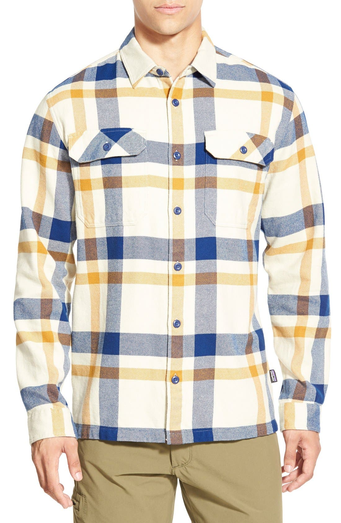 ,                             'Fjord' Regular Fit Organic Cotton Flannel Shirt,                             Main thumbnail 106, color,                             400