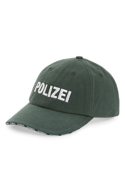 Vetements Accessories POLIZEI BASEBALL CAP - GREEN