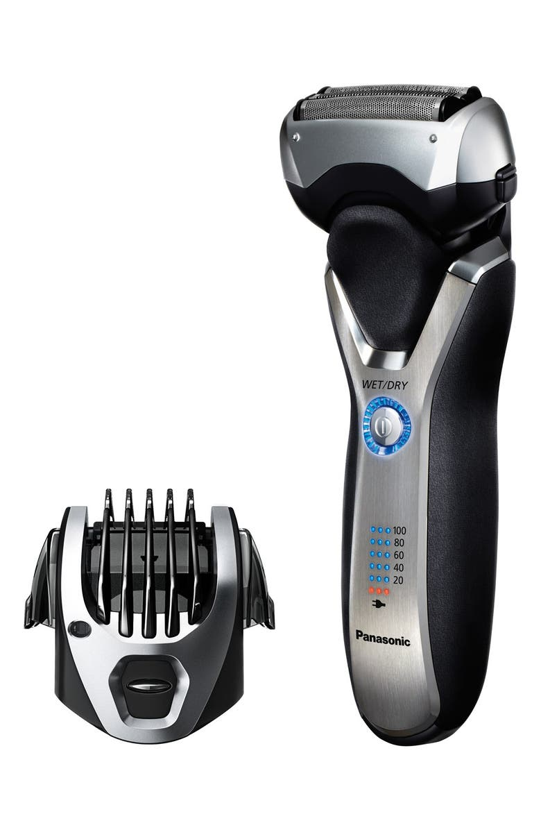 PANASONIC 'ARC3' 3-Blade Electric Wet/Dry Shaver with Built-In Trimmer, Main, color, 000