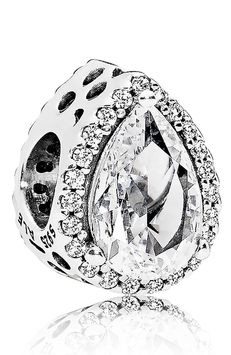 PANDORA Radiant Teardrop Charm, Main, color, 040