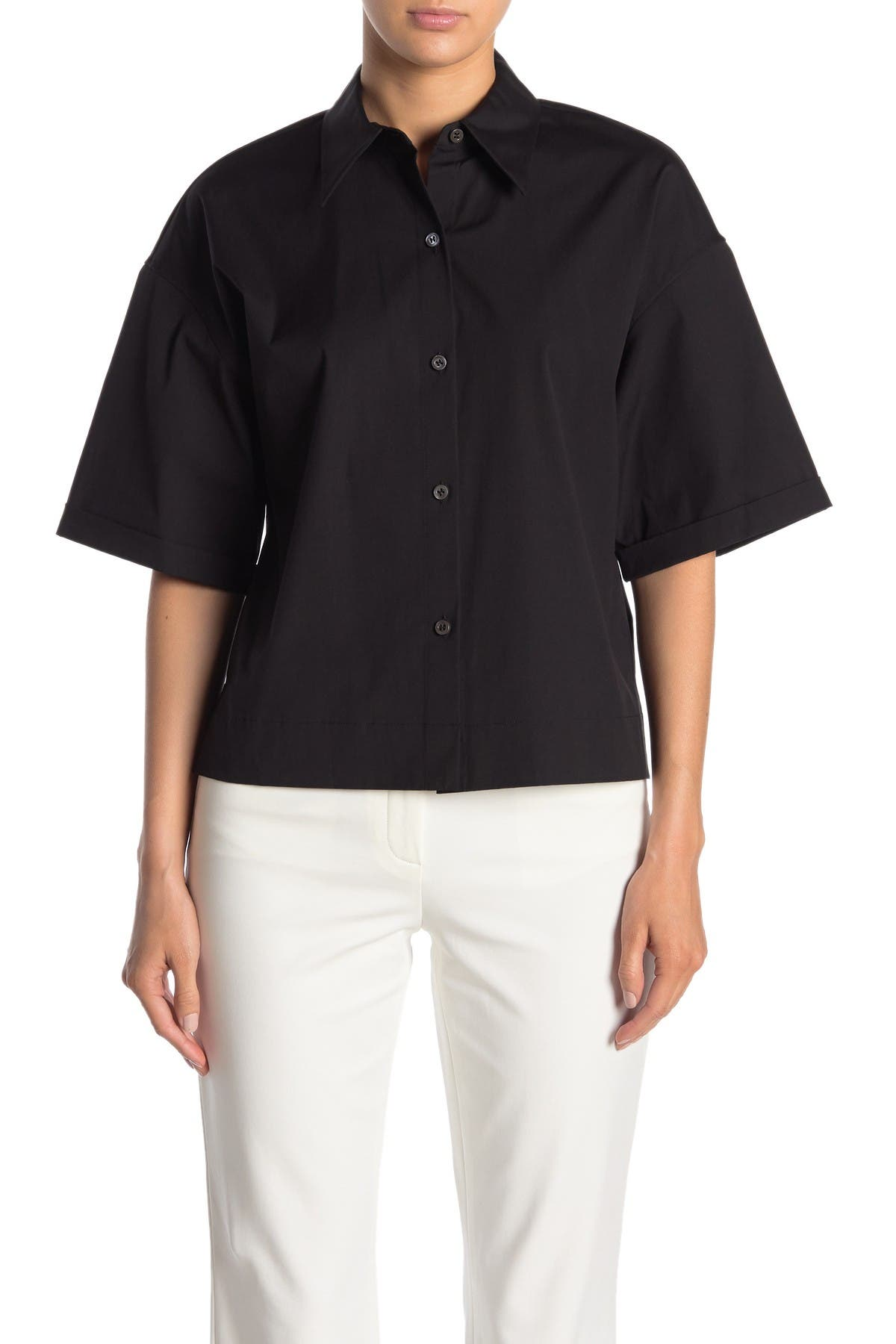 Image of Theory Button Down Woven Shirt