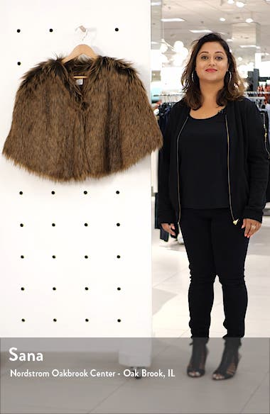 Faux Fur Capelet, sales video thumbnail