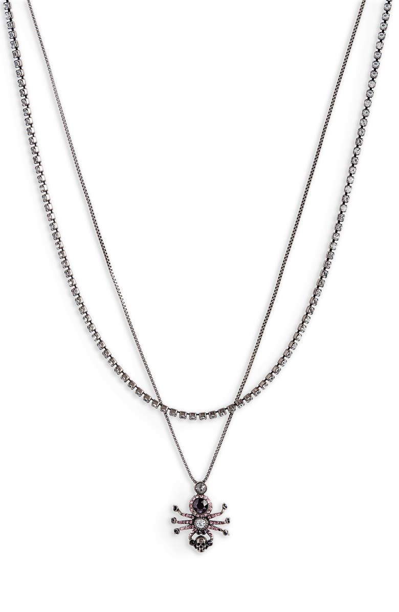 ALEXANDER MCQUEEN Spider Layered Necklace, Main, color, 040