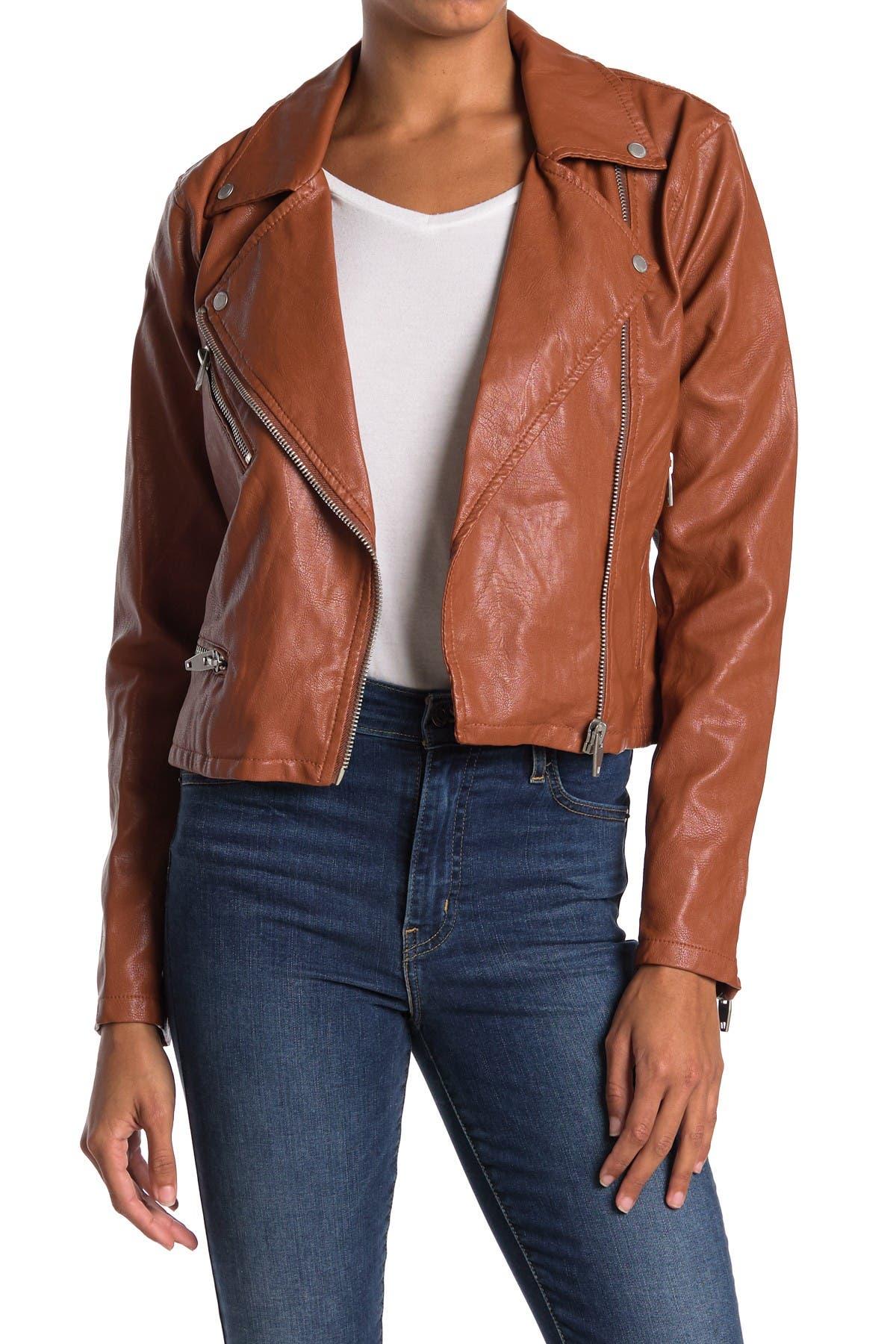 Image of BLANKNYC Denim Faux Leather Moto Jacket