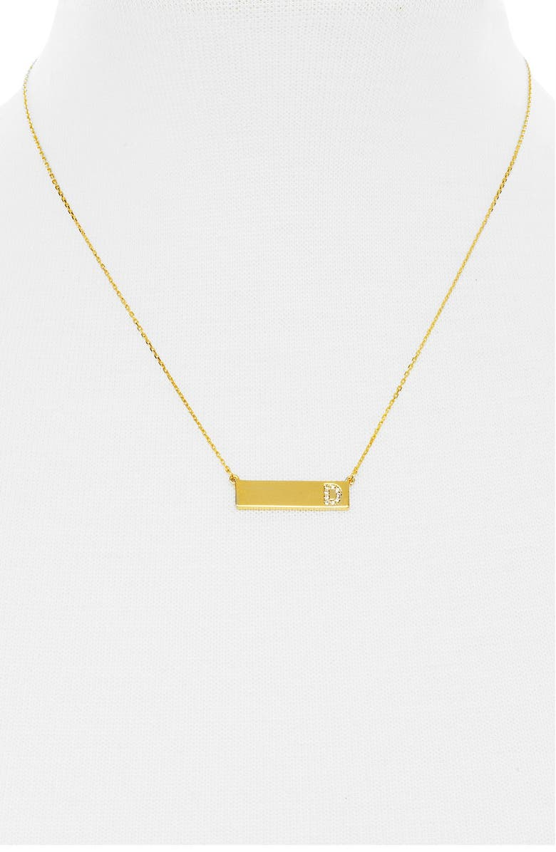 BAUBLEBAR 'Ice Initial' Bar Pendant Necklace, Main, color, 726