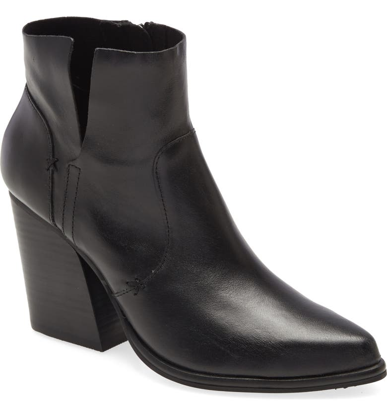 KELSI DAGGER BROOKLYN Vale Pointed Toe Bootie, Main, color, BLACK LEATHER