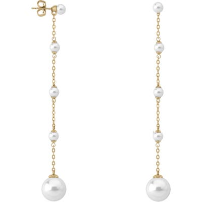 Majorica Simulated Pearl Linear Earrings