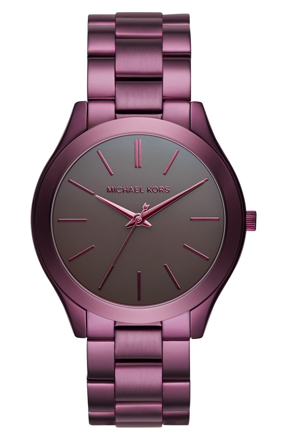 ,                             'Slim Runway' Bracelet Watch, 42mm,                             Main thumbnail 33, color,                             500
