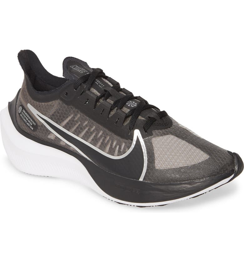 NIKE Zoom Gravity Running Shoe, Main, color, BLACK/ SILVER/ GREY/ WHITE