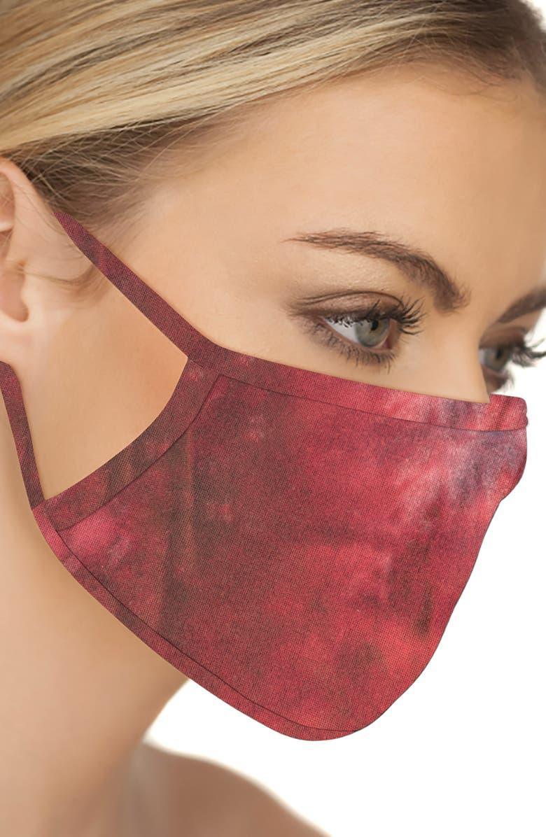 LOVE CHANGES 5-Pack Adult Face Masks, Main, color, BLK/ WHT/ BLU/ GRN/ RED