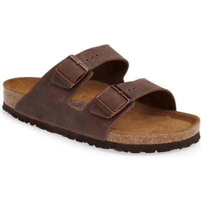 Birkenstock Arizona Soft Slide Sandal,7.5 - Brown