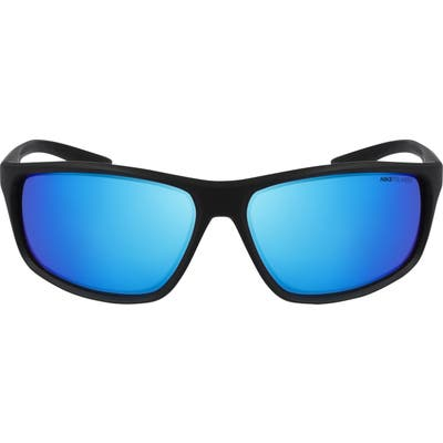 Nike Adrenaline Wraparound Sunglasses - Mt Black/ Polar Grey W Blue