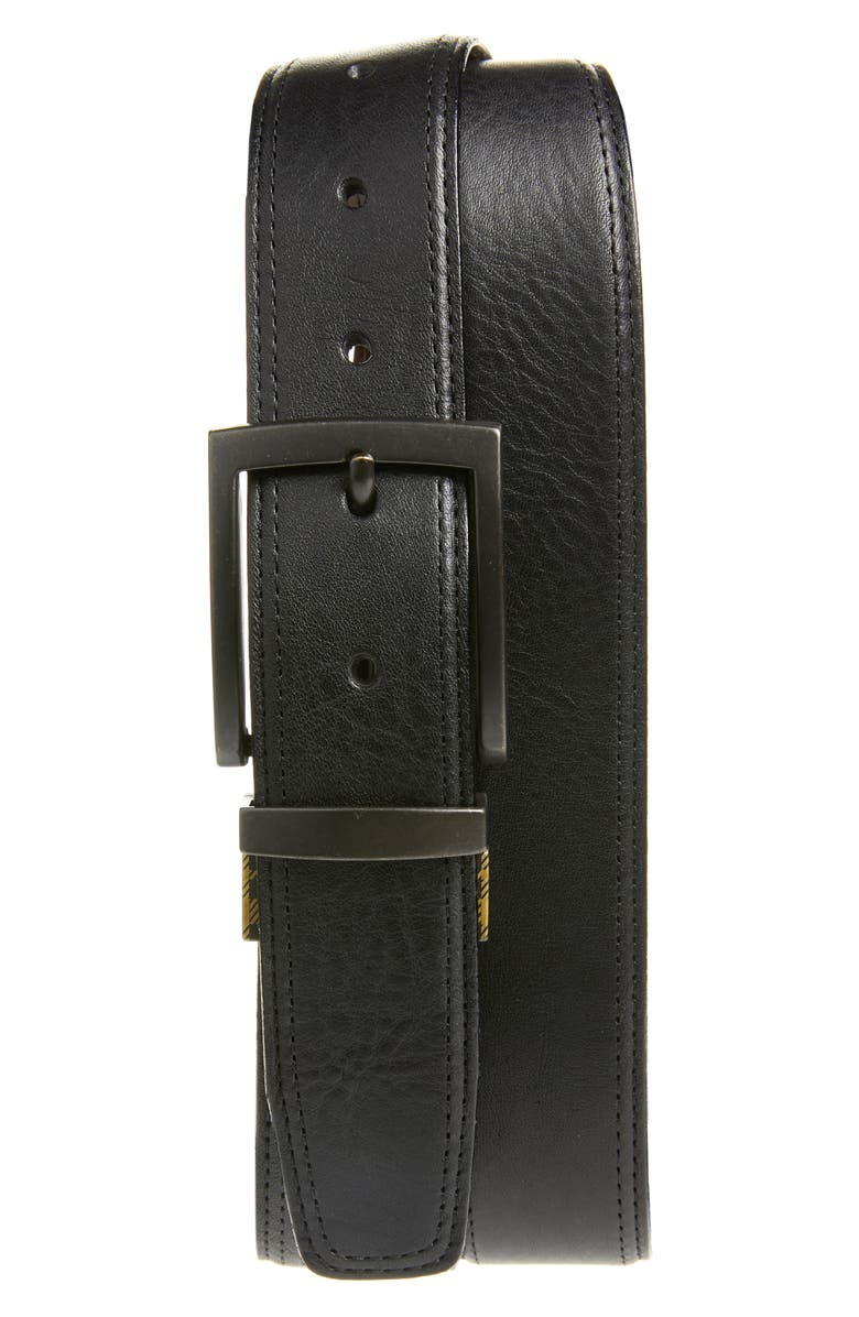 BOCONI Reversible Leather Belt, Main, color, 001